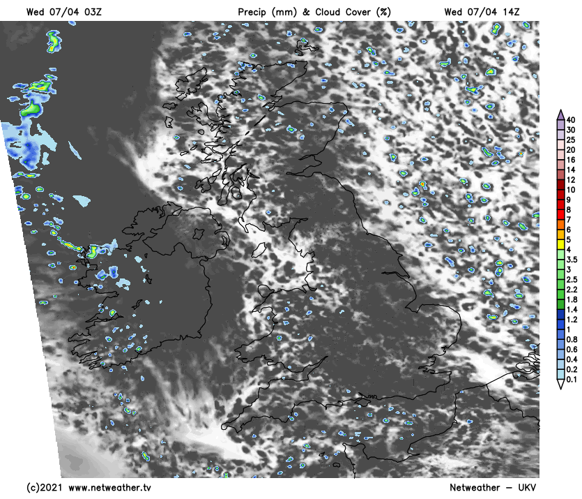Cloudy this afternoon for many