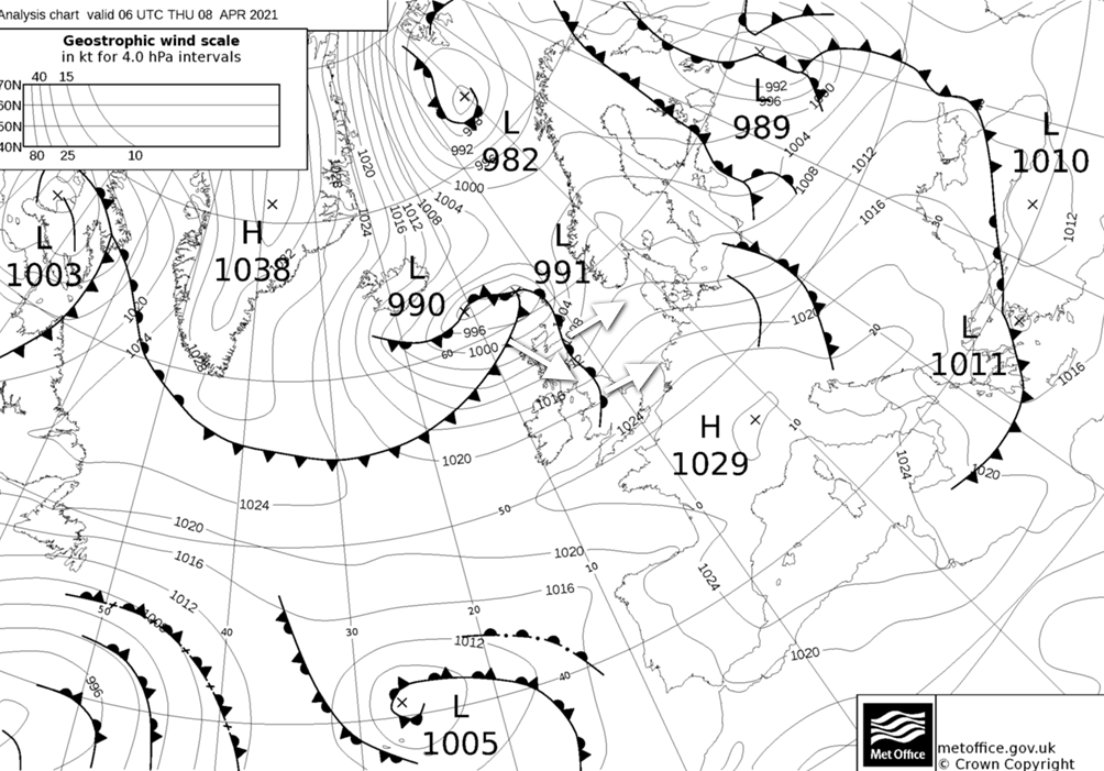 Weather fronts moving through on Thursday