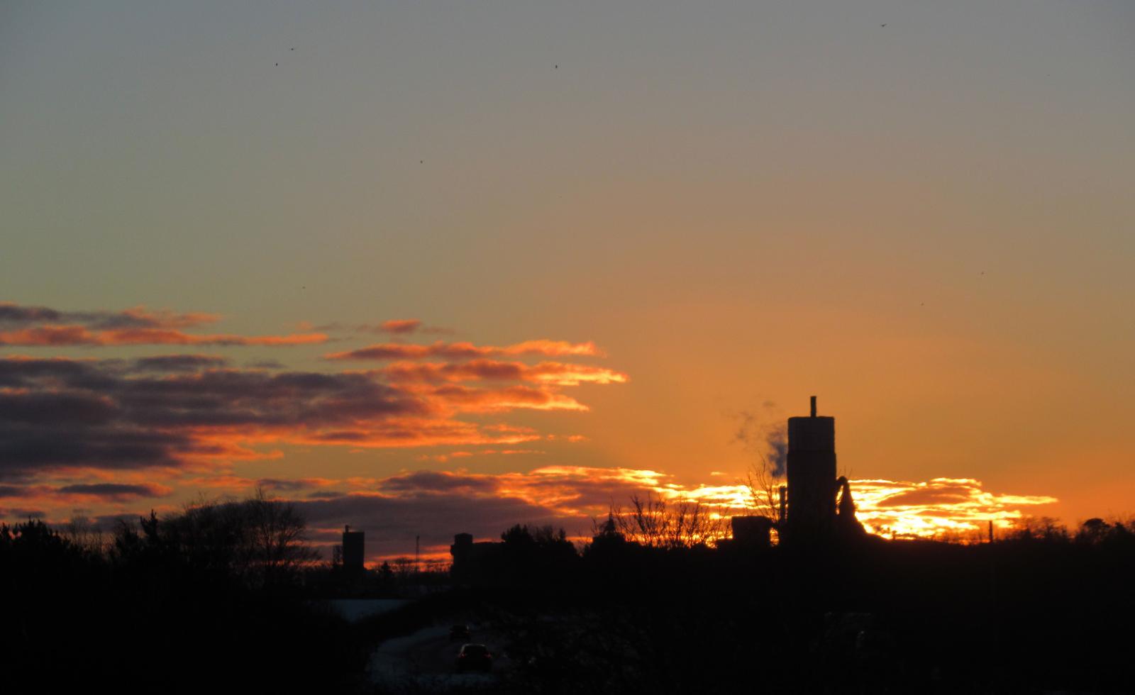 sunset clouds sunrise