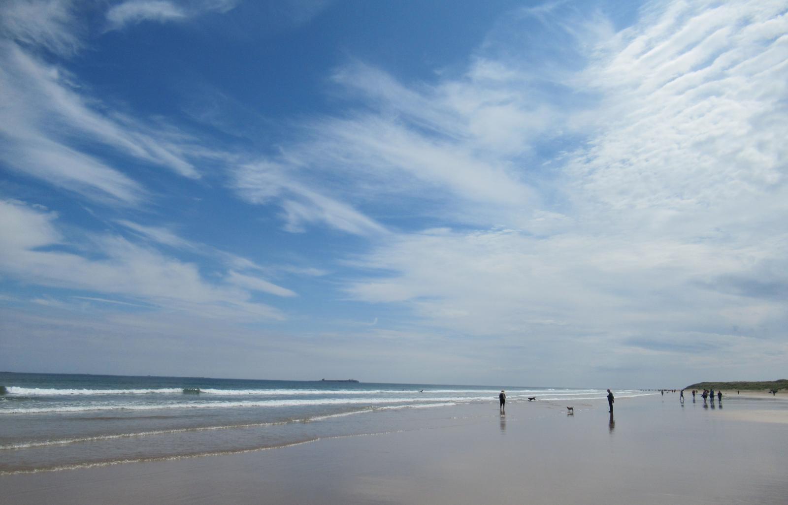 Cirrus clouds on beach