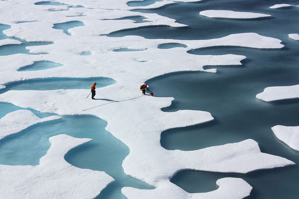 Met ponds on the surface of Arctic Sea Ice