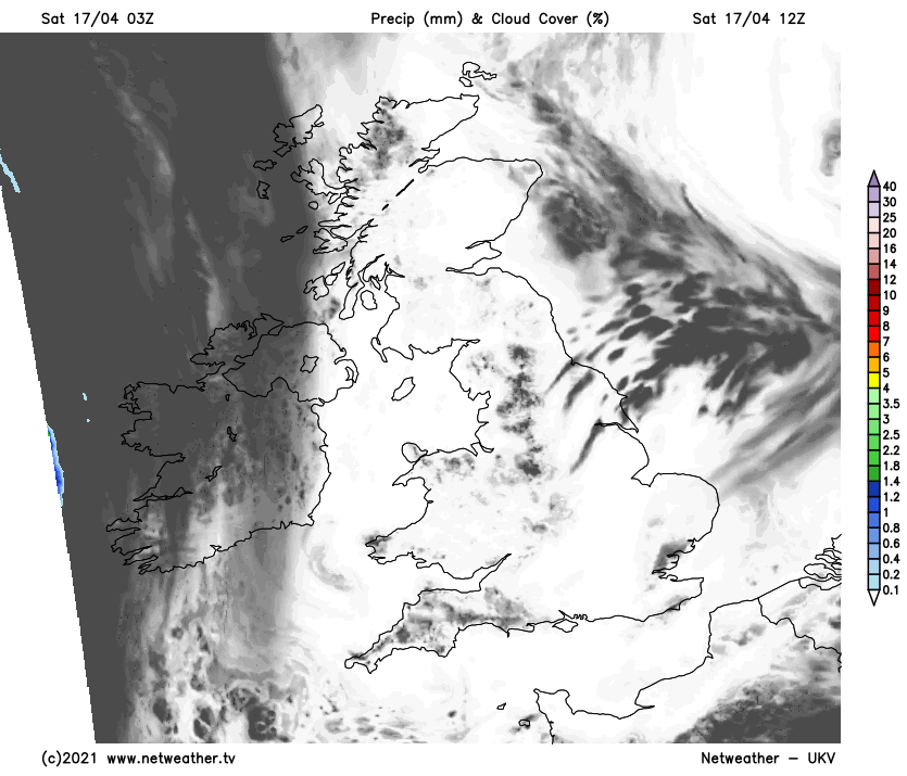 A lot of sunshine on Saturday