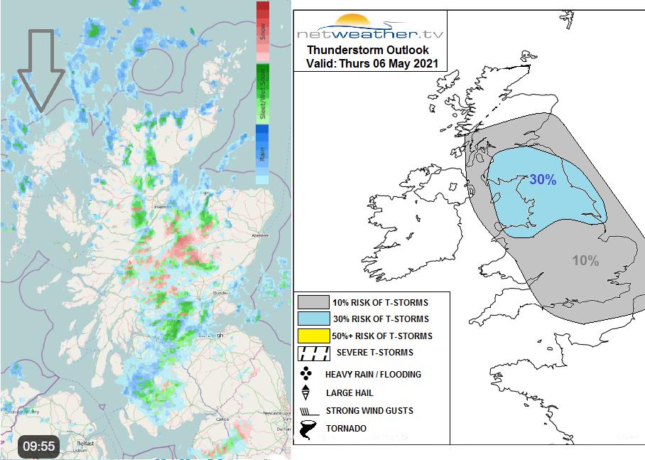 Thunderstorm forecast radar snow