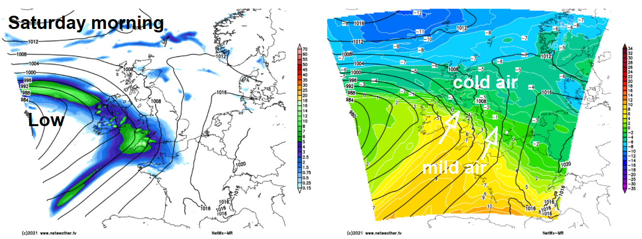 Milder air moving up over the country this weekend
