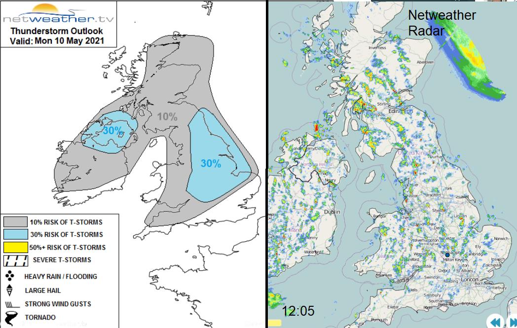 UK thunderstorm risk