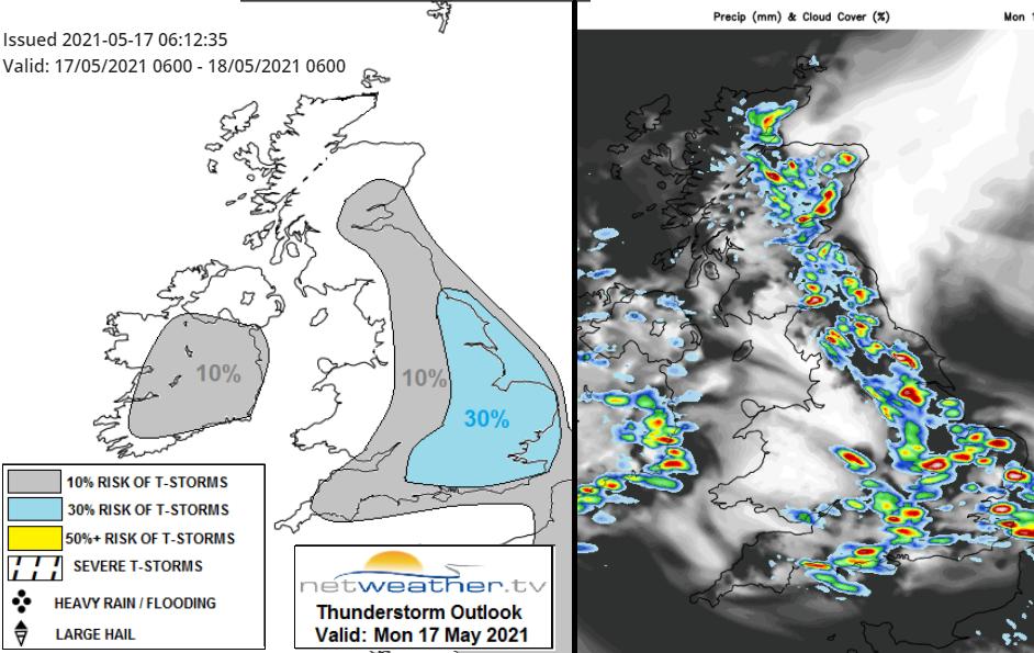UK thunderstorm forecast