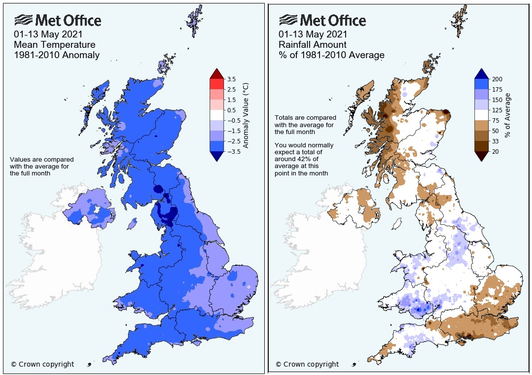 May cold and wet UK