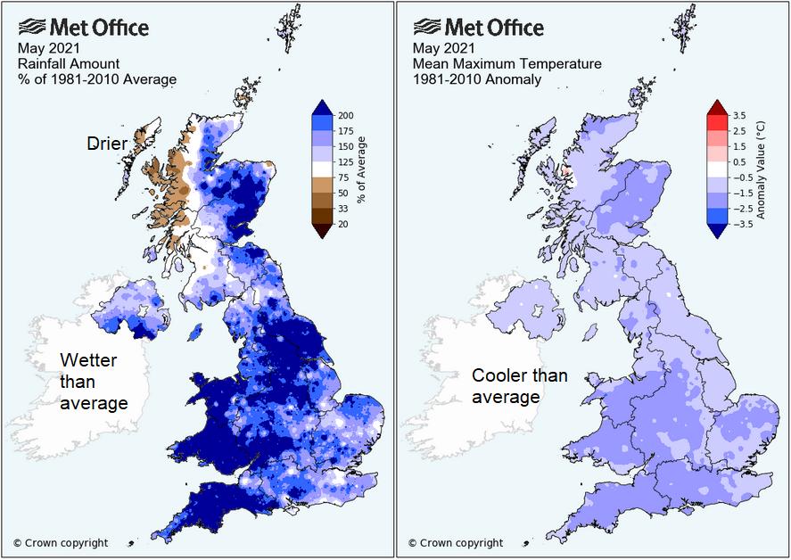 UK weather MAy 2021
