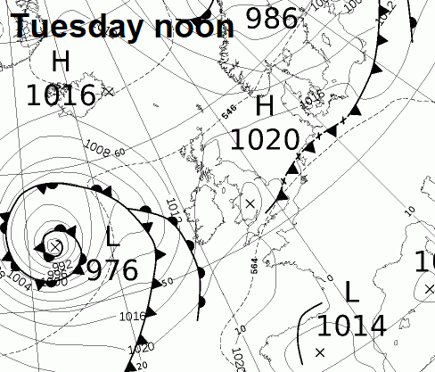 A weak cold front moving south on Thursday