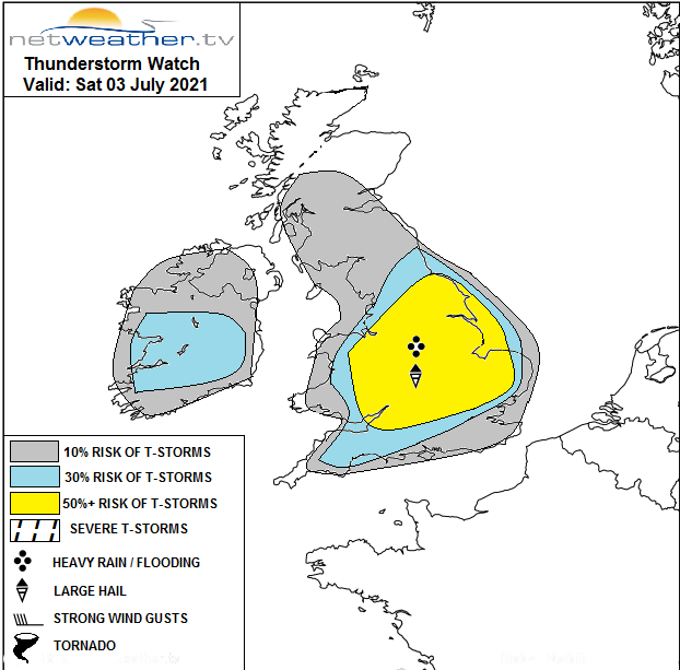 Storm forecast issued on Saturday morning