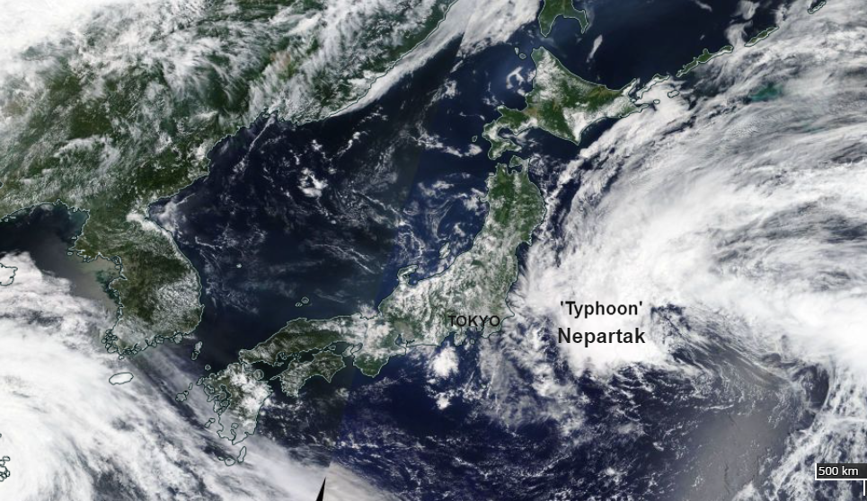 Olympic weather: Searing heat for Tokyo and incoming Typhoon Nepartak