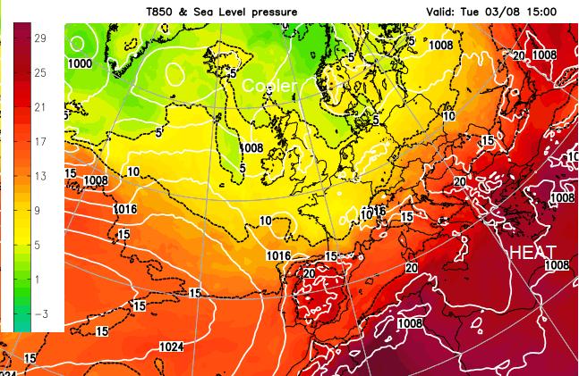 European heat Greece Turkey