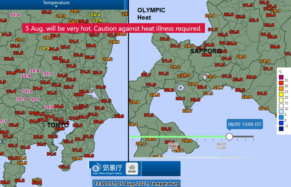 Ζέστη στους Ολυμπιακούς Αγώνες του Τόκιο Σαπόρο