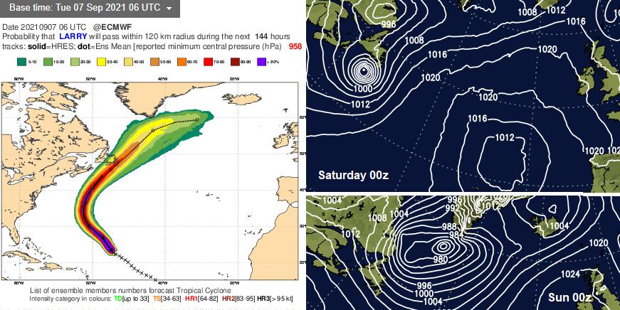 Hurricane Larry Greenland Newfoundland