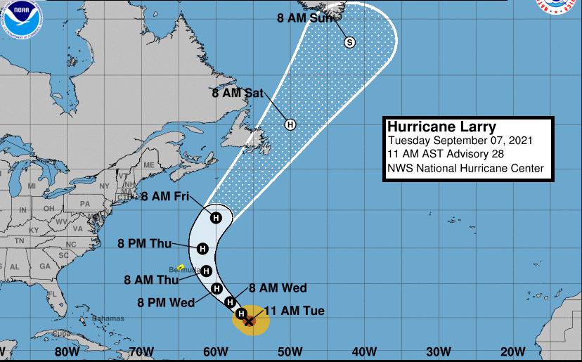 Atlantic Influencer Hurricane Larry