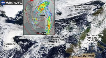 Torrential rain and flooding: London UK, Europe and Oman