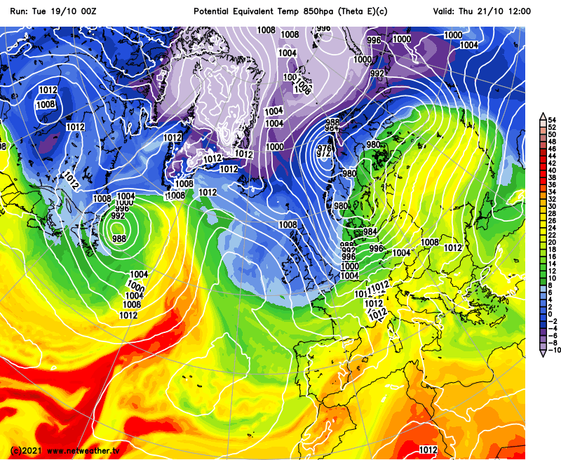 Tropical for now but soon turning colder as winds swing into the north